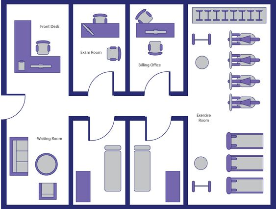 physical therapy room layout Google Search Clinic Pinterest