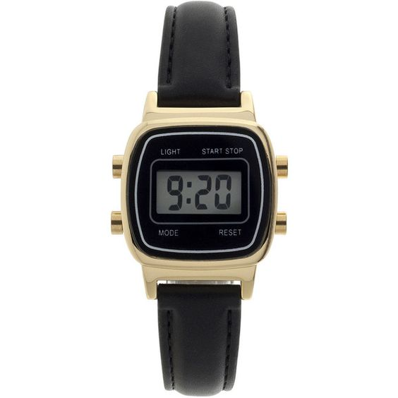 Womens Square Dial Black Strap Digital Watch (1,410 PHP) ❤ liked on Polyvore featuring jewelry, watches, square face watches, buckle jewelry, sporty watches, digital watches and plastic jewelry