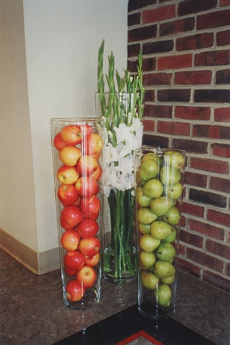 Vases vase and the o 39 jays on pinterest for Artificial fruit for decoration