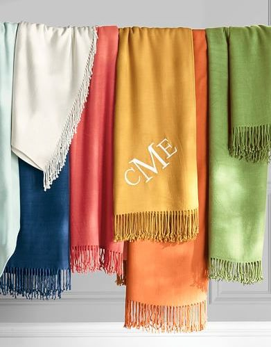colorful personalized throw blankets