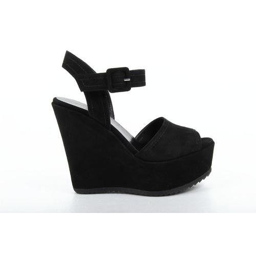 Versace 19.69 Abbigliamento Sportivo Milano ladies sandal B2245-2 CAMOSCIO NERO