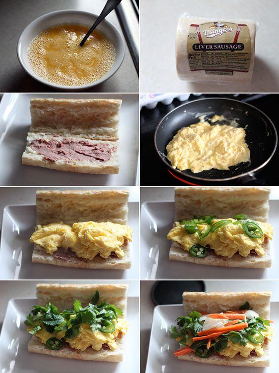 How to make a breakfast banh mi sandwich