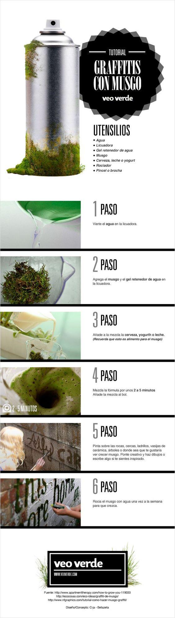 Infografía Veo Verde: ¡¡Aprende a hacer graffiti de musgo!!