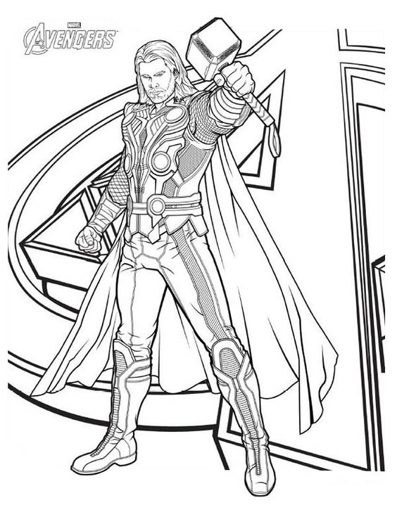 Thor Coloring Pages To Print The Avengers Avengers Thor Coloring Pages