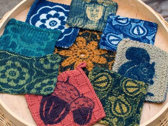 Cyanotype on yarn