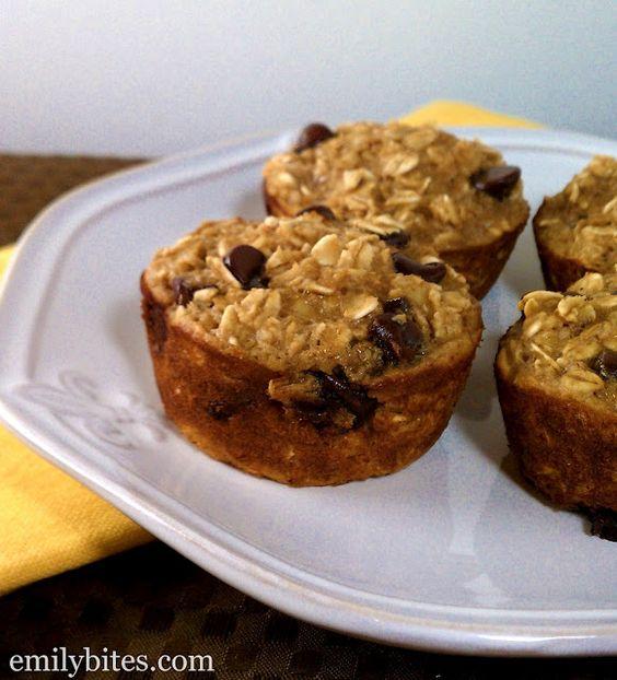 Oatmeal and banana chocolate chip muffins!