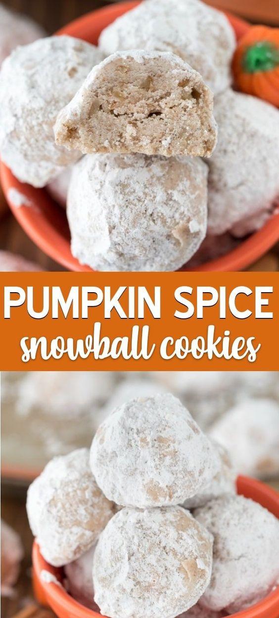 Pumpkin Spice Snowballs