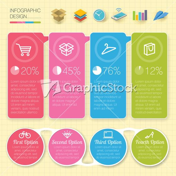This quad-tone shopping #infographic #template is bright and ...