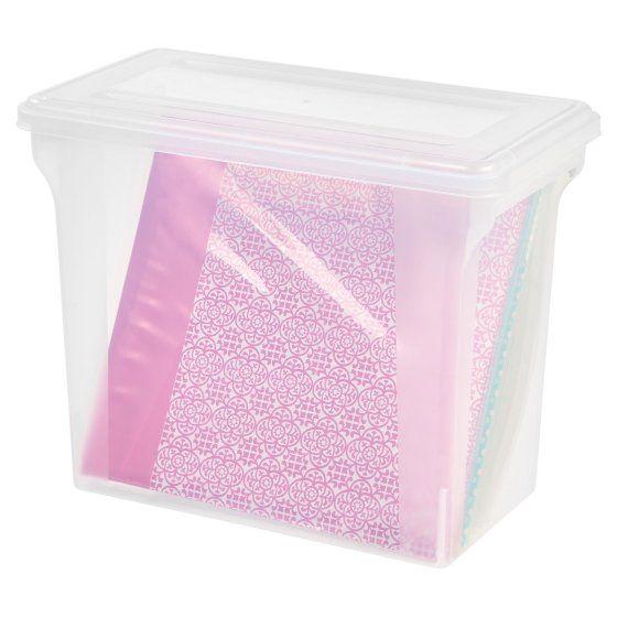 Iris 12 X 12 Scrapbook File Box Clear Walmart Com File Box
