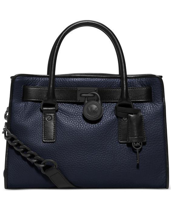 MICHAEL Michael Kors Hamilton French Binding Satchel - MICHAEL Michael Kors - Handbags & Accessories - Macy's