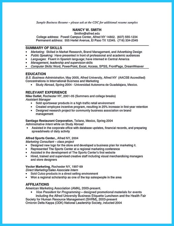 cool The Most Excellent Business Management Resume Ever, Check more