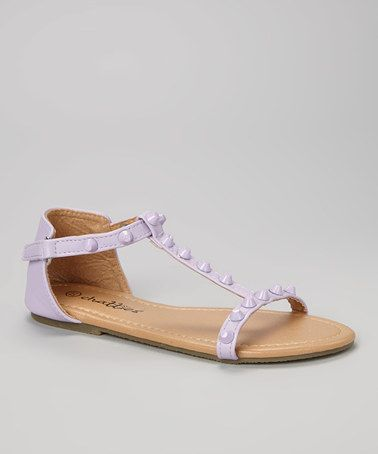 Take a look at this Lilac Bolted T-Strap Sandal on zulily today!