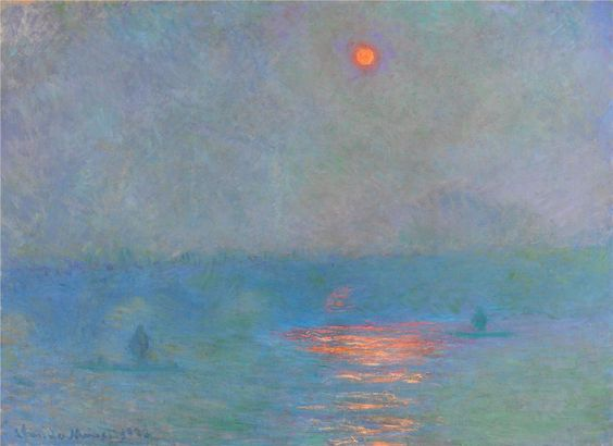 Waterloo Bridge, Sunlight in the Fog ~ Claude Monet: