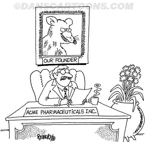 Pharmacy Pharmaceutical Cartoon 23  a Cartoon Image and funny joke for license by Dan Rosandich