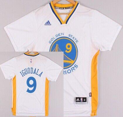 Golden State Warriors 9 Andre Iguodala Revolution 30 Swingman 2014 New  White Short-Sleeved ... 3c83c65dd