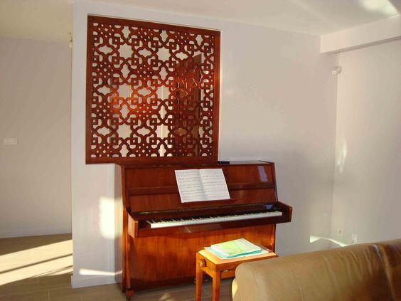Claustra en bois du0027intérieur avec motif arabesque DIY deco Pinterest
