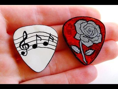 Diy Miniature Acoustic Guitar Made With Popsicle Sticks Youtube Guitar Picks Guitar Custom Guitar Picks