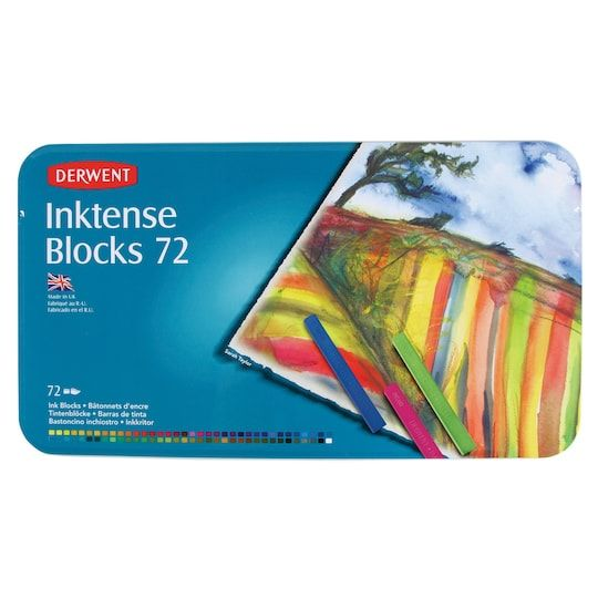 Derwent Inktense Block 72 Color Tin Set Michaels Ink Block