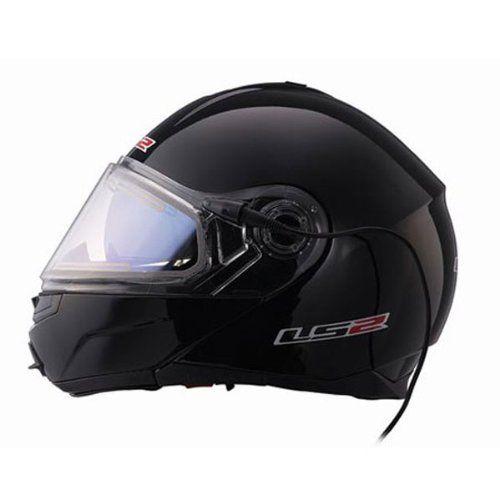 LS2 FF386 Electric Solid Black Snow Helmet - 2X-Large