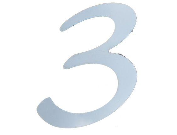"Number ""3"" - BUMPER DECAL, EMBLEM, LOGO, MAILBOX ADDRESS NUMBER"