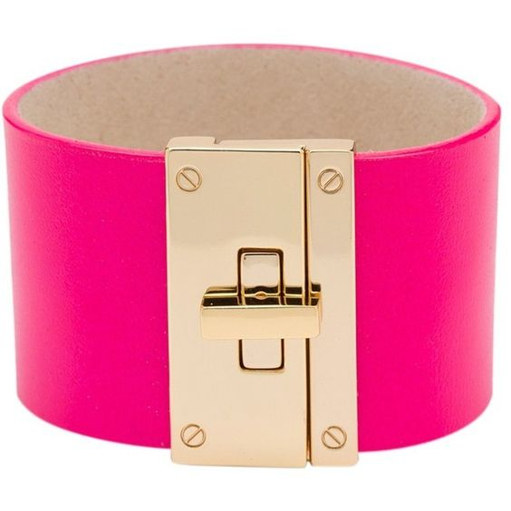 CC Skye Resort Cuff ($150) ❤ liked on Polyvore featuring jewelry, bracelets, accessories, neon pink, cuff jewelry, cc skye, neon pink jewelry, cuff bangle and 18k jewelry
