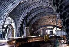 Hans Rudi Giger's Skeleton Bar Has an Eerie Theme #architecture trendhunter.com