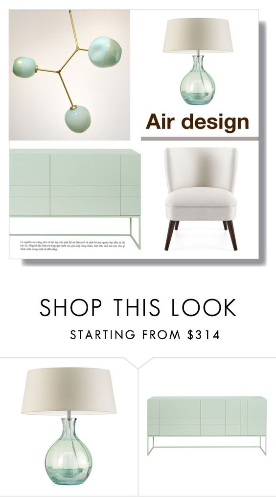 """Air design By Mariarty"" by mariarty ❤ liked on Polyvore featuring interior, interiors, interior design, home, home decor, interior decorating, Heathfield & Co., Asplund and Lindsey Adelman"