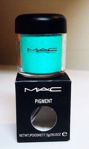 MAC Pigment Shimmer EYE Shadow Bright Color AQUA BLUE Cyan