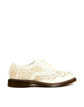 Image 1 ofDr Martens Kensington Aila Skull Etched 5-Eye Oxford Shoes