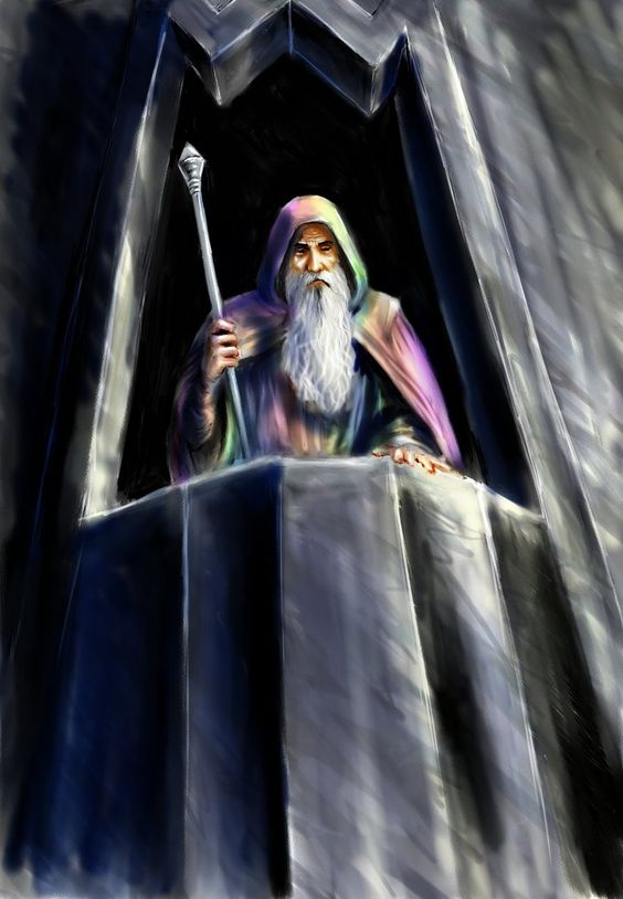 Saruman of many colours by TolmanCotton on DeviantArt - as he appears in the book