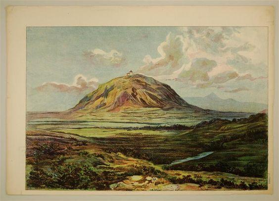 8980/17 [Hintergrund Landschaft mit Berg]