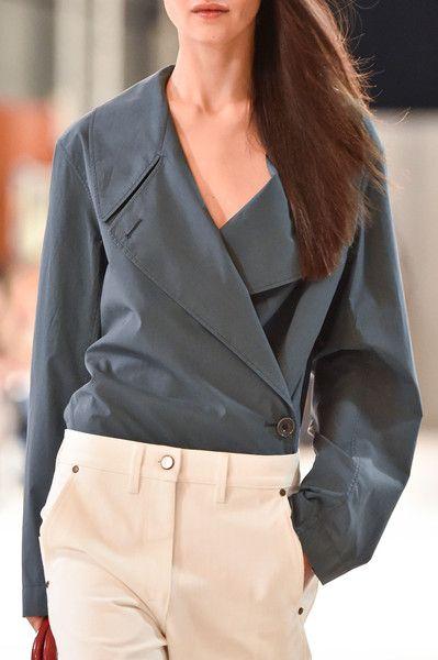 Christophe Lemaire at Paris Spring 2015 -shirt-jacket available at…