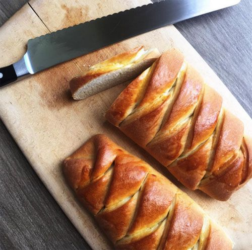 Recipe For Vetebrod Swedish Sweet Yeast Bread Flavored With Cardamom And Baked In A Beautiful Loaf Complete With Ste Swedish Recipes Scandinavian Food Bread