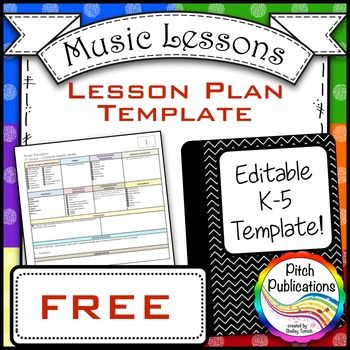 This is a set of editable music lesson plan templates for your use - music lesson plan template