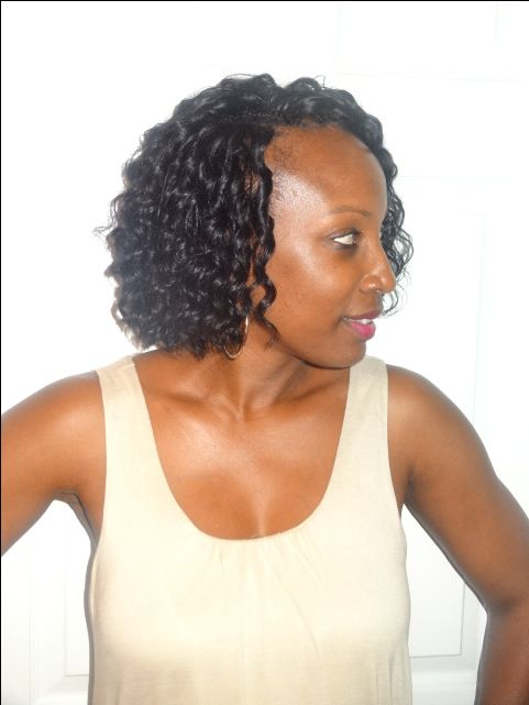 Crochet Braids O Que E : this Crochet Weave with Human hair. The hair I used was MilkyWay Que ...