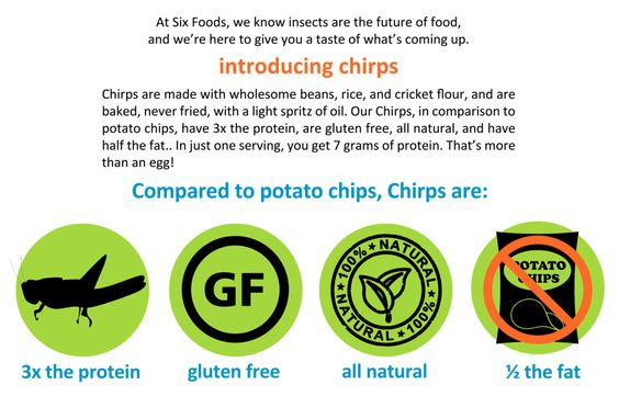 Chips made from bans, rice, and crickets