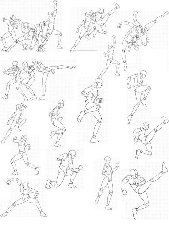 Anime Characters Reference : Virgin bodies by fvsj on deviantart gt action pose
