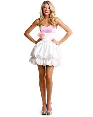 Betsey Johnson White Strapless Dress