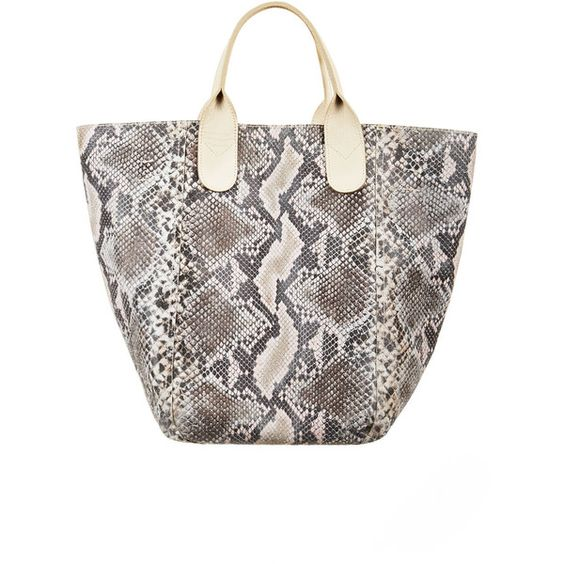 BCBGMAXAZRIA Lady Reversible Leather Tote ($229) ❤ liked on Polyvore featuring bags, handbags, tote bags, grey, grey leather tote bag, grey leather tote, handbags totes, leather handbags and leather tote