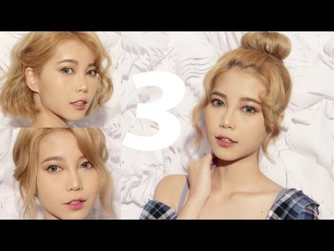 3 HAIRSTYLES FOR SHORT HAIR - YouTube