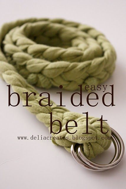 braided belt from old t-shirts