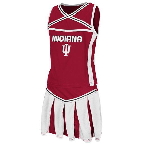 Girl's Youth Colosseum Crimson Indiana Hoosiers Handspring Cheerleader Set