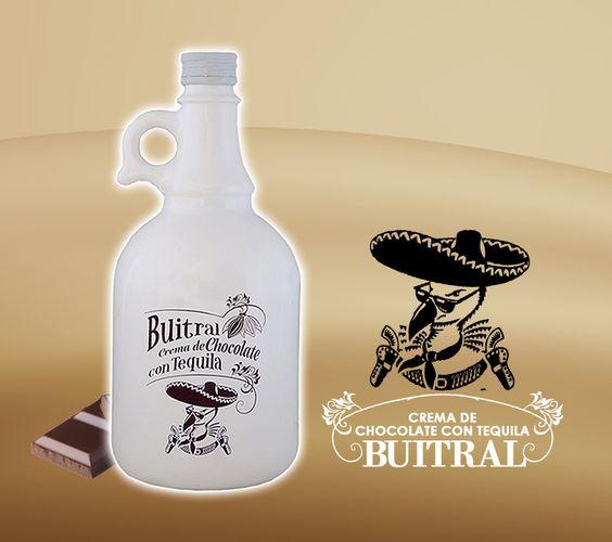 Crema de chocolate con Tequila Buitral. 17º Vol. Alc.