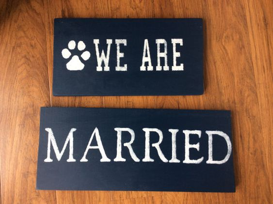 We Are Married Penn State sign by RubyHeartCrafts on Etsy