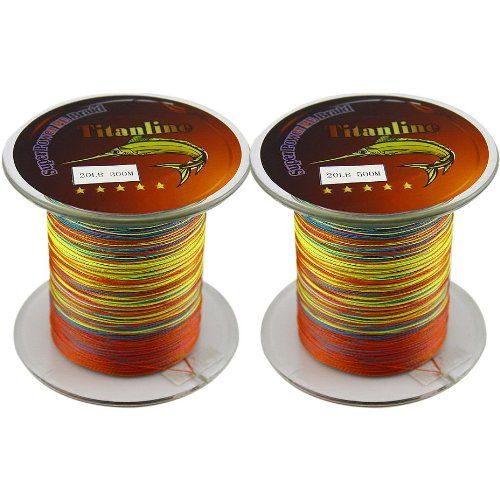 Titanline High Grade Fiber PE Briad Fishing Line 800M Meters Colors 30LB 1Pcs 300M And 500M >>> Click on the image for additional details.