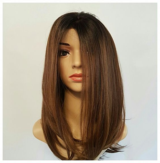 Wonda Wigs 16 inch Brown Auburn. Light and easy to wear, perfect for first time wig wearers.