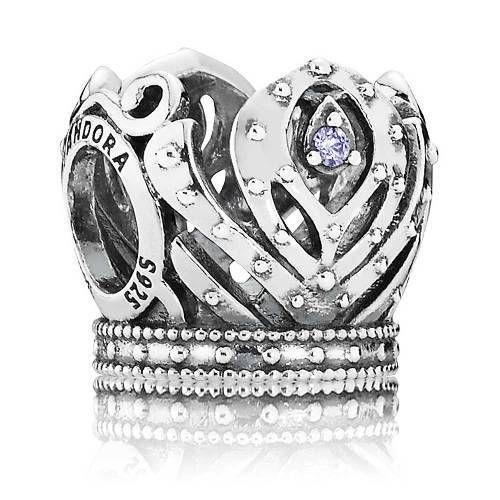 Pandora Retired silver 925 #791589acz Disney Anna's Crown slide ...