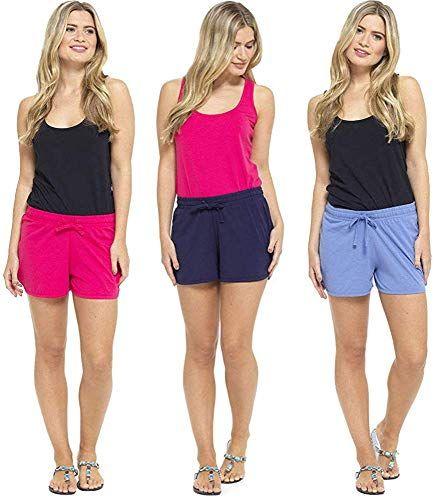 Insignia Mujer Pantalones Cortos Playa Damas Pantalones Pack 2 Coral Pantalones Cortos
