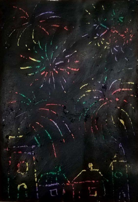 tűzijáték rajz gyerekeknek