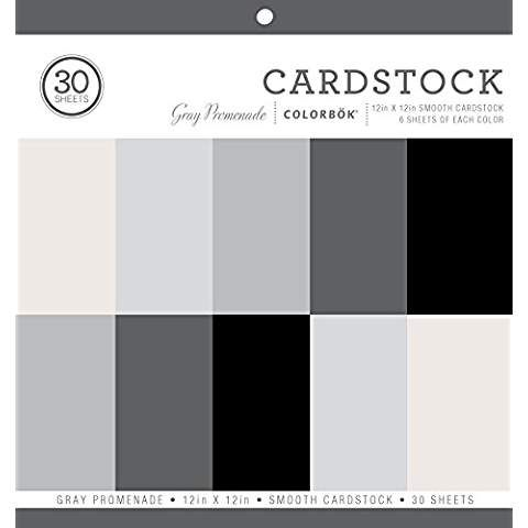 Colorbok 71880a Smooth Cardstock Paper Pad Gray Promenage 12 X 12 Paper Pads Cardstock Paper Card Stock